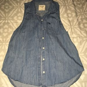 Abercrombie and Fitch Denim shirt Jean top